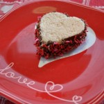 Valentine Sandwiches and Bread Pudding