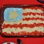 Patriotic Layered Bean Dip