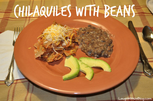 Chilaquiles with Beans
