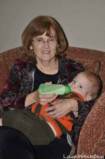 Grandma and baby