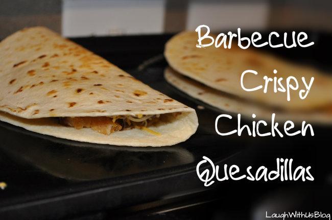 Barbecue Crispy Chicken Quesadillas