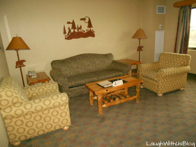 Grizzly Bear Suite living area