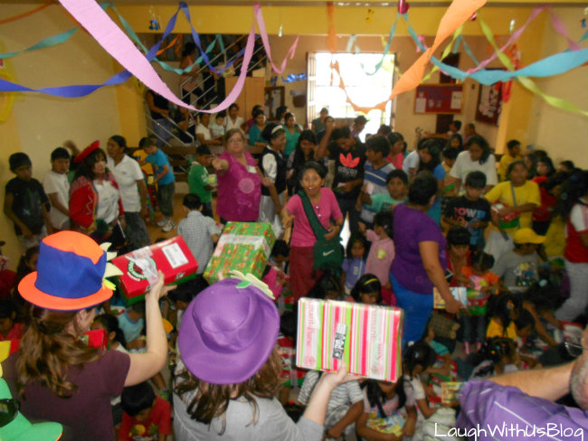 OCC giving out shoeboxes
