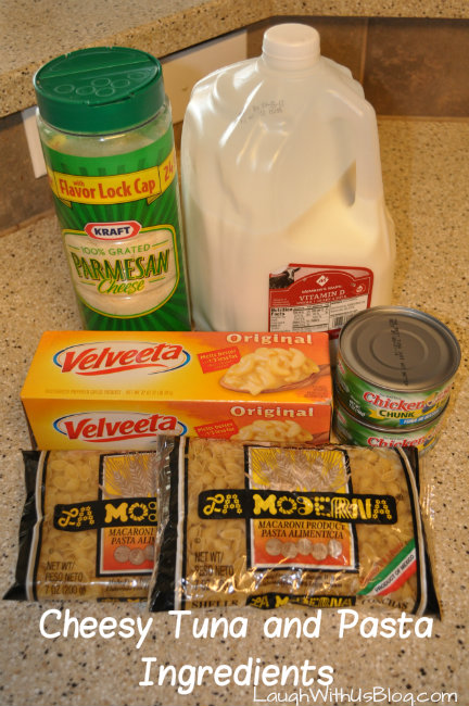 Tuna and Pasta Ingredients