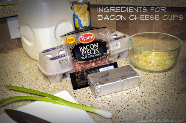 Ingredients for Bacon Cheese Cups