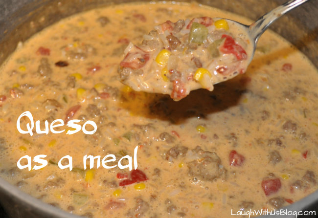 Queso as a meal