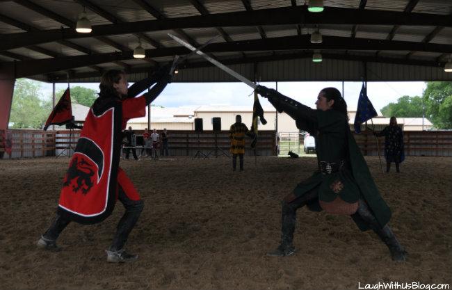 Knights sword fight