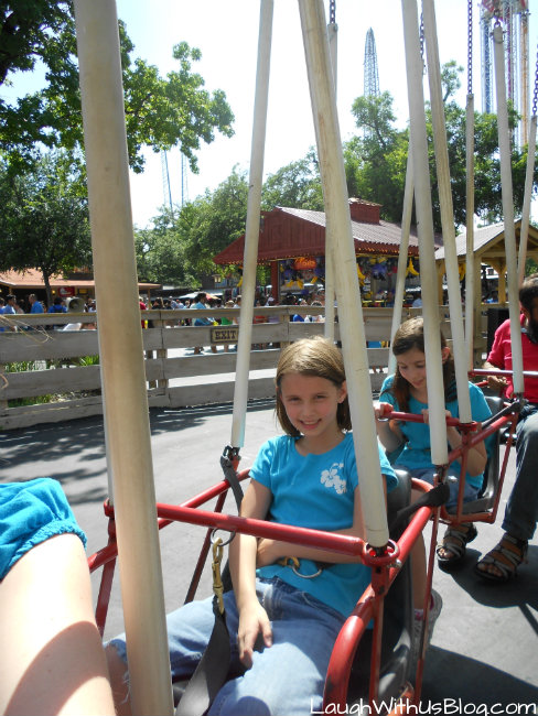 Six Flags swings
