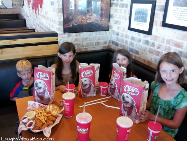 Eating at Cane's