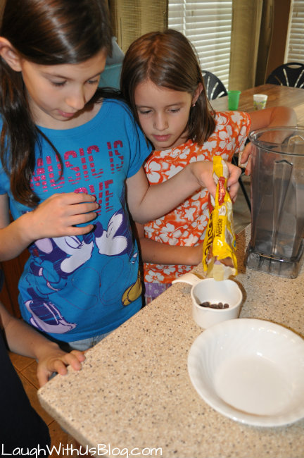 Measuring the chocolate chips