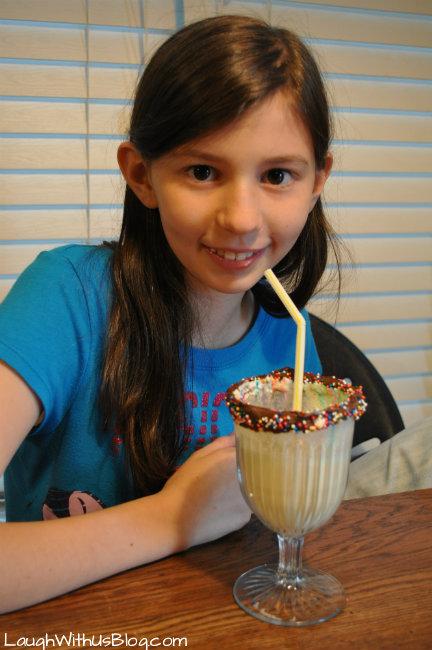 enjoy a milk shake