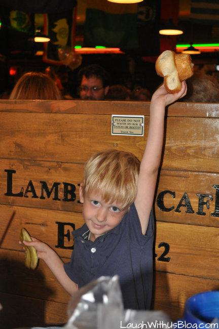 Caught a roll at Lambert's