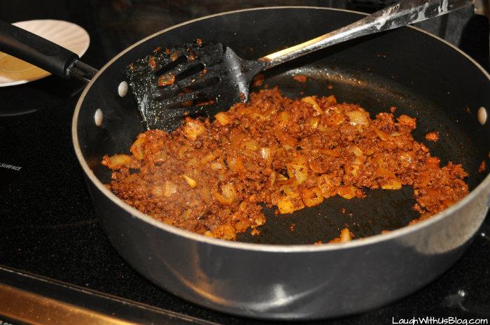 Brown Chorizo and onions