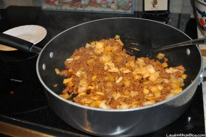 Brown Chorizo with onions