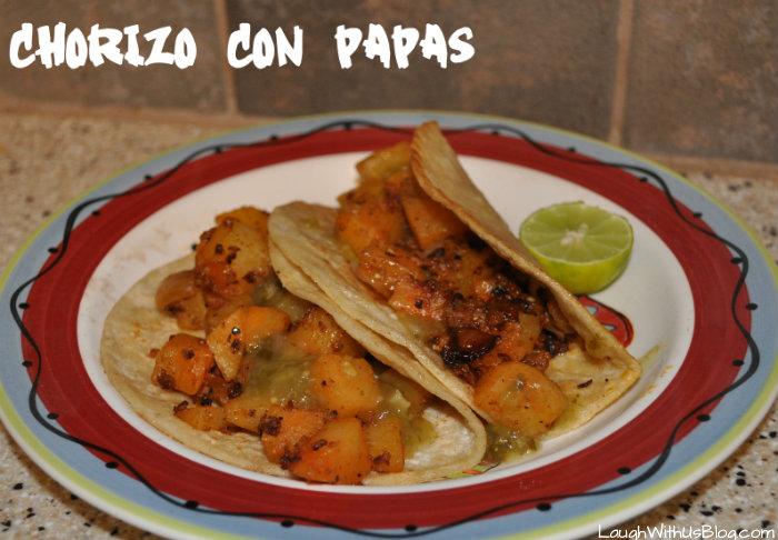 Chorizo con Papas Recipe (Mexican Sausage with Potatoes)