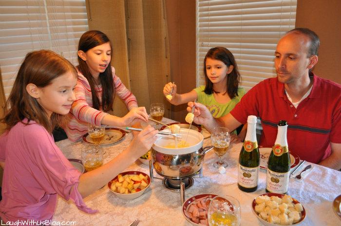 Cheese fondue fun