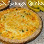 Double Sausage Quiche Recipe
