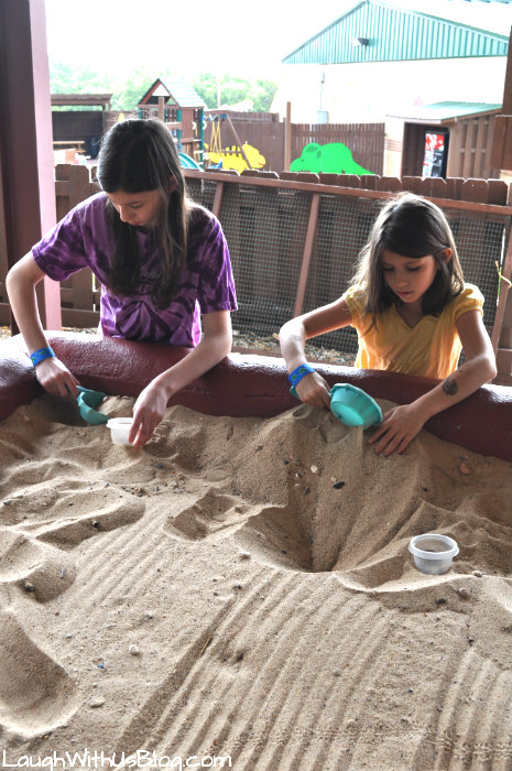 Digging for fossils Dinosaur World #ad