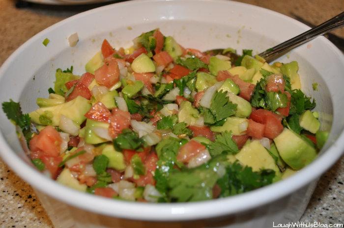 Avocado salsa salad