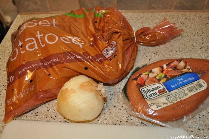 Potato Sausage Skillet main ingredients