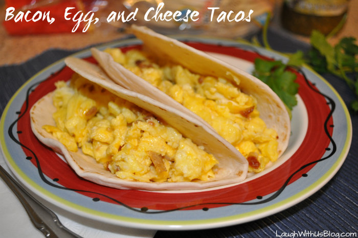 Bacon egg and cheese tacos