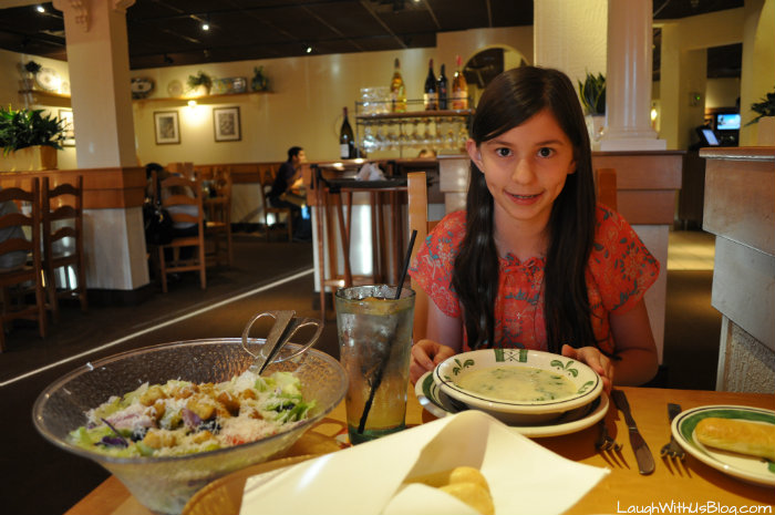 Soup and Salad at the Olive Garden