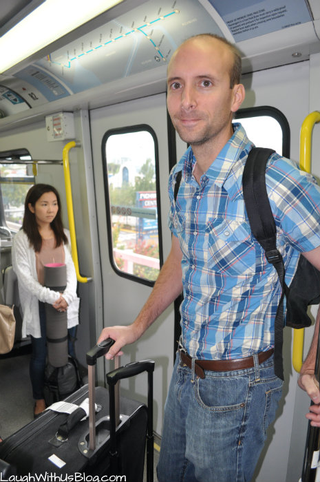 Aboard the Translink in Vancouver