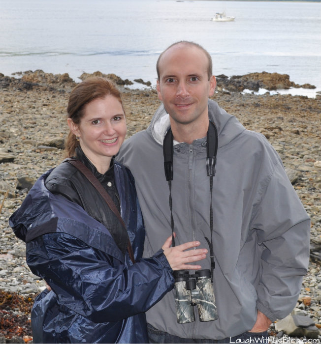 Alaska in our rain jackets