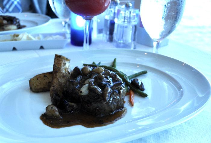 Celebrity Millennium The Metropolitan steak entree