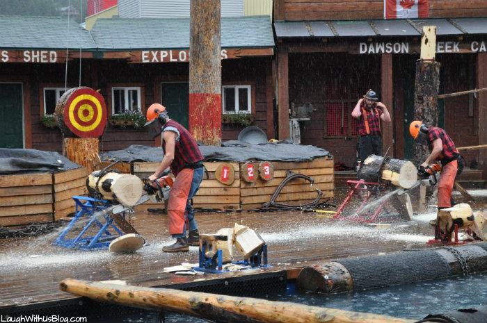 Lumberjack Show Ketchican Alaska