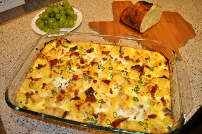 Eggland's Best Bacon and Egg Casserole #ad