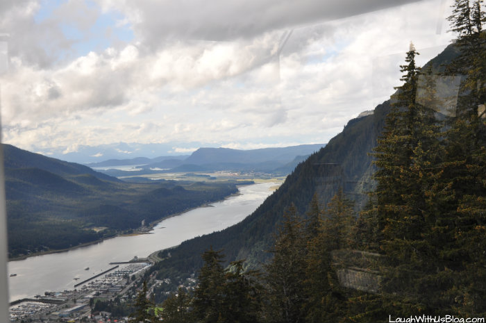 View from inside Mount Roberts Tramway