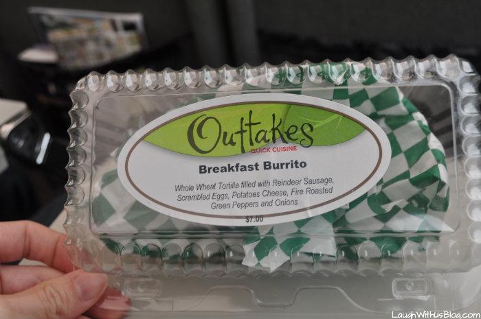 Breakfast Burrito Alaska Railroad quick service