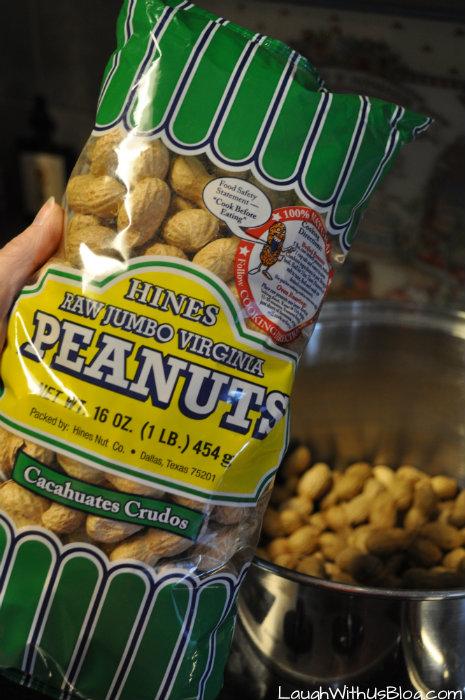 Making Boiled Peanuts