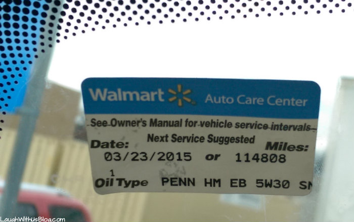 Pennzoil Oil Change at Walmart--Saving Time and Money