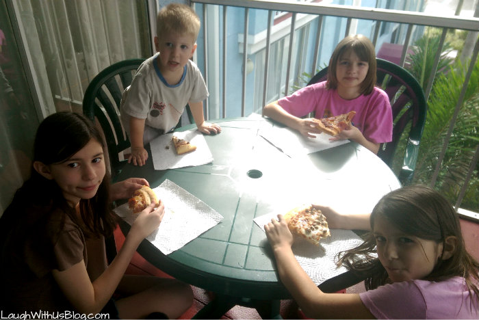 Pizza at the Cypress Pointe resort Orlando FL