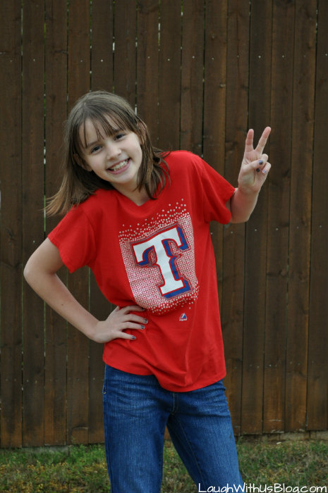 Texas Ranger Gear 10 year old girl #MLBFanatics #ad