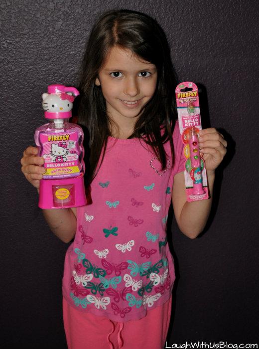 Firefly Hello Kitty Toothbrush Mouthwash #BrushBattles #ad