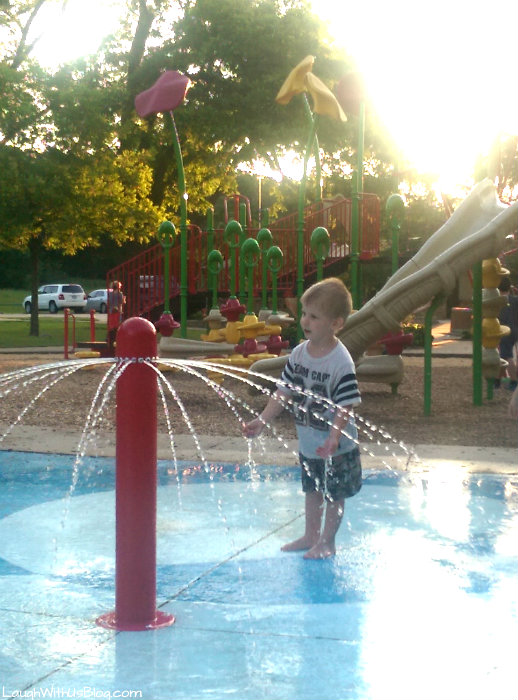 Splashing at the park #MilkLife #sp