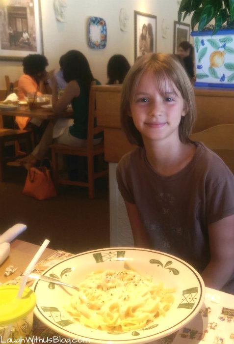 Joy's Birthday Olive Garden