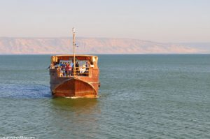 A boat ride on the Sea of Galilee