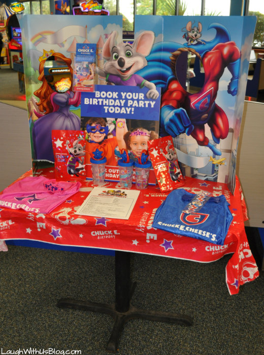 Chuck E Cheese Book your Birthday Party