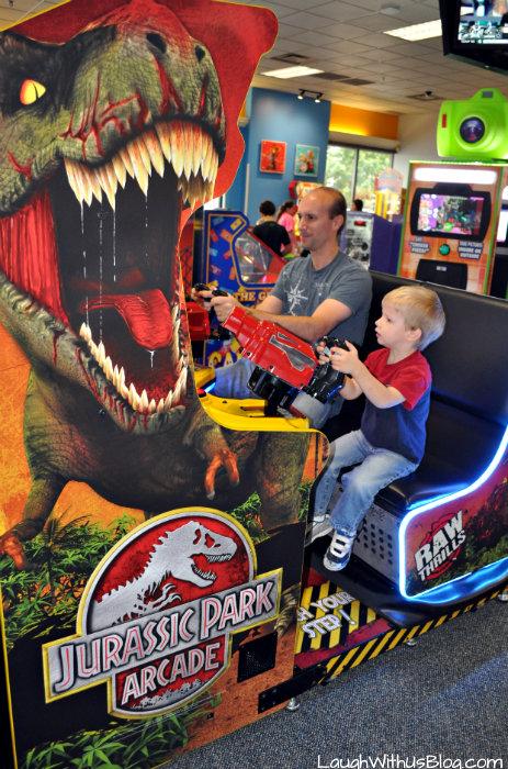 Chuck E Cheese Jurassic Park Arcade
