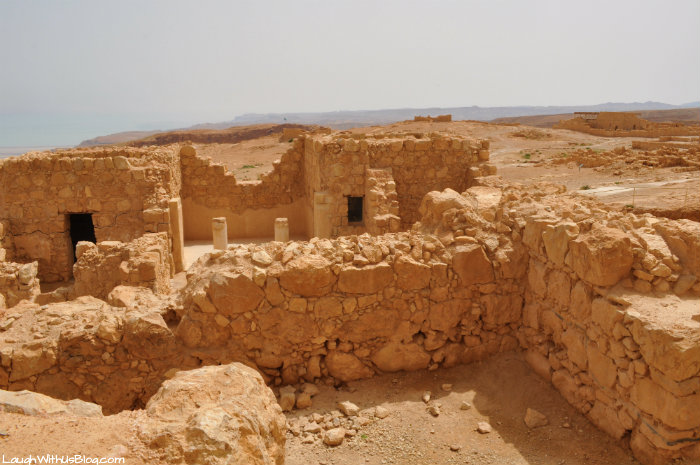 Masada on top of