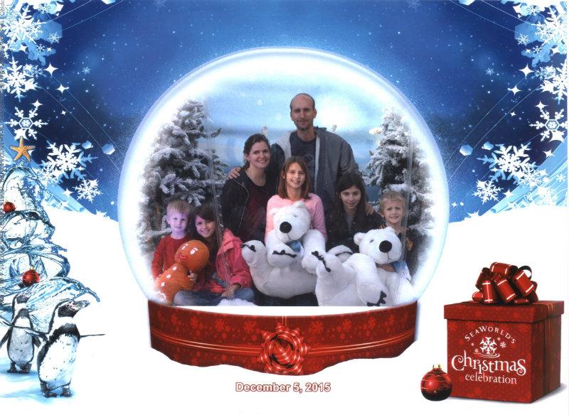 Seaworld Christmas Snow Globe