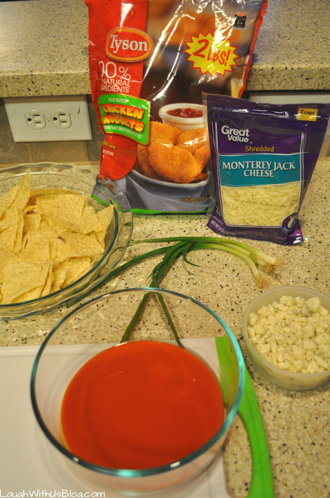 Buffalo Chicken Nachos Ingredients #deliciousgametime #ad
