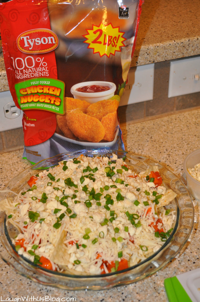 Buffalo Chicken Nachos #deliciousgametime #ad