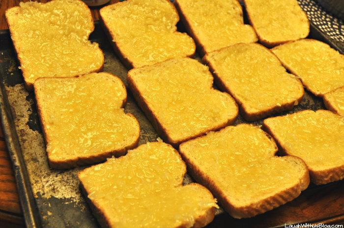 Coconut Toast preparation