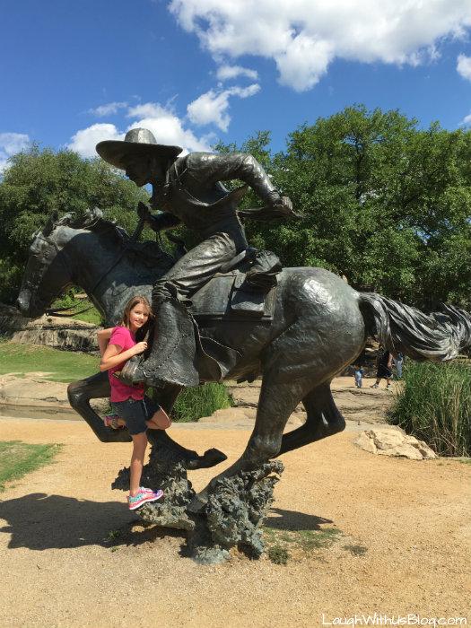 Pioneer Plaza Cowboy