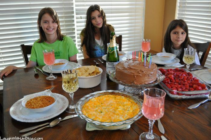 Joy's 12 year Birthday Meal